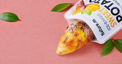 [네이처엠] 두 번 구워 더 맛있는, 아이스 군고구마 25% 할인!