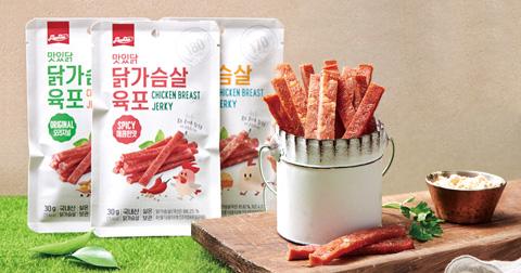 [맛있닭] 부드럽고 맛있는 건강간식, 닭가슴살 육포 & 추가 증정