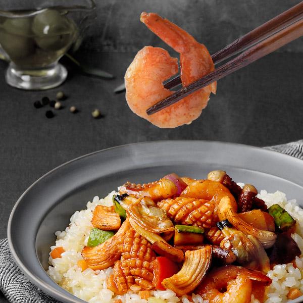 랭킹수산 닭가슴살 쭈꾸미 & 해물볶음밥 혼합 (1팩 250g)