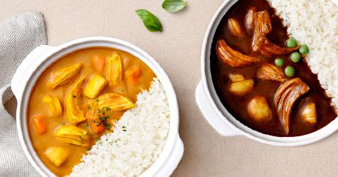 [러브잇] 닭가슴살을 넣어 단백질과 식감을 UP! 닭가슴살 카레 & 짜장, & 추가 증정