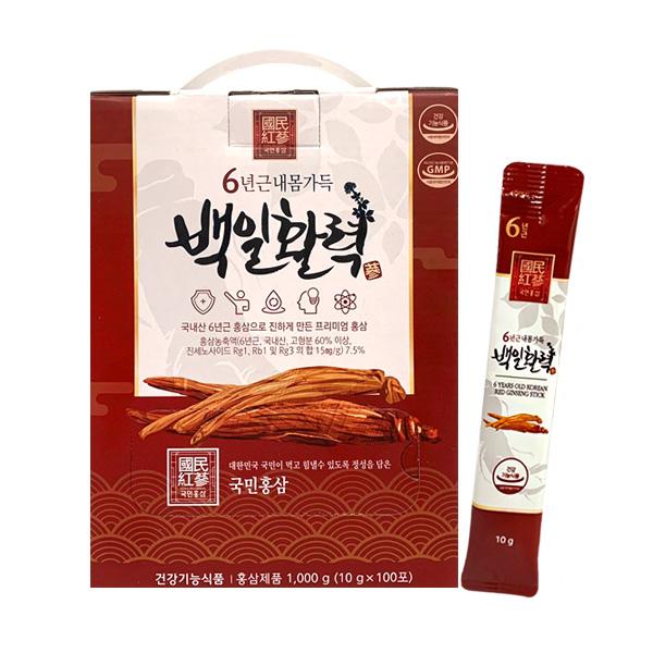 국민홍삼 6년근 홍삼 백일활력 선물세트