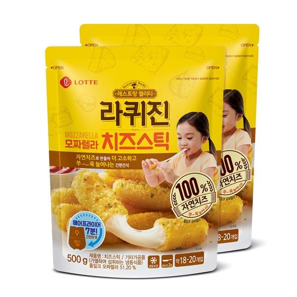 롯데푸드 라퀴진 치즈스틱 & 치즈볼 & 우유튀김 500g