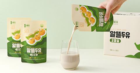 [1am] 콩의 영양과 칼슘을 듬-뿍! 알뜰두유 고칼슘